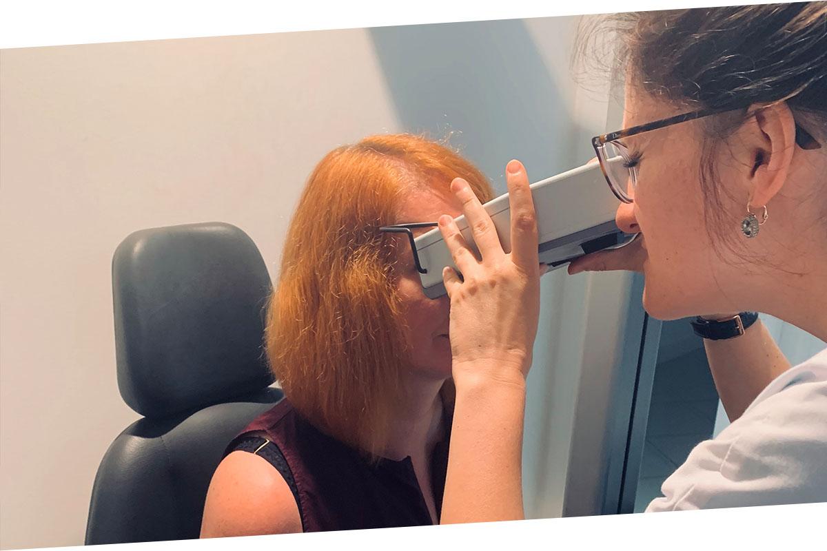 Starpzīlīšu attāluma mērīšana ar pupilometru